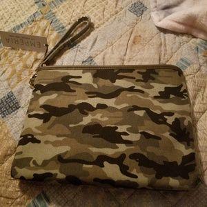 Handbags - Large camo clutch. nwt